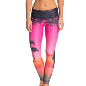 Sunset yoga pants